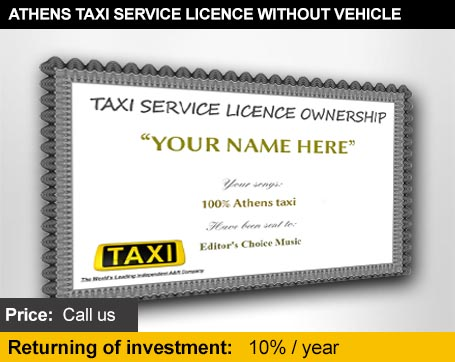 Athens taxi licence without vehicle